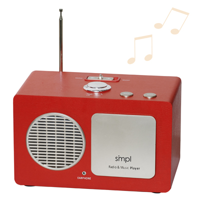 Senior Friendly MP3 Music Player and One Button Radio