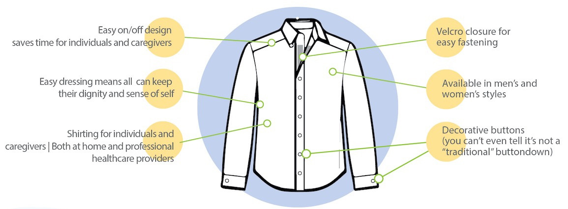 Adaptive Dress Shirt Adaptive Clothing for Men