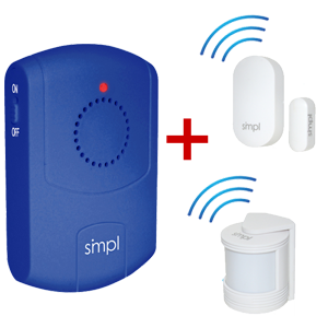 Alzheimer's Wandering Prevention w/ Door Alarms and Motion Detectors for Dementia