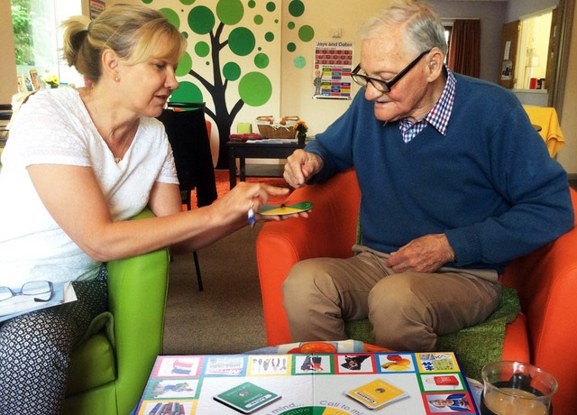 Dementia Patient playing a Conversation Game