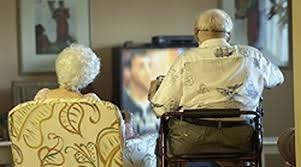 seniors watching dvds