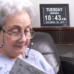 clocks for seniors and those w/ Alzheimer's or Dementia