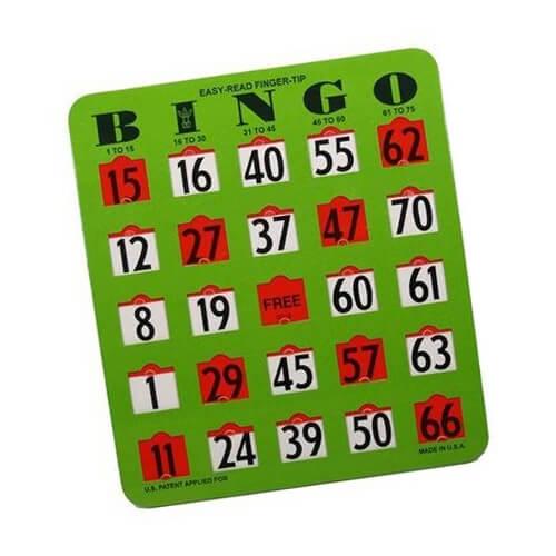 Jumbo Slide Slot Bingo Cards I Bingo Cards For Seniors I